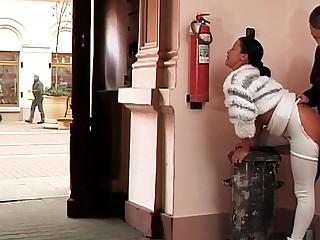anal fuck on public street