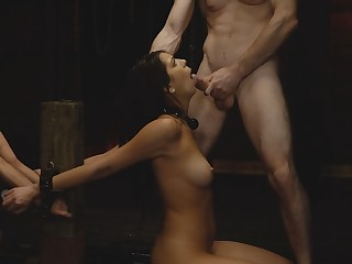 Bondage, submission and rough fucking with cock loving Sydeny Cole