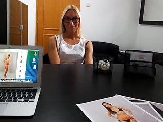 Blond Asking for Fashion Model