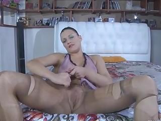 Sibylla pantyhose tease action