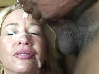 This blonde mature slut just loves black cocks