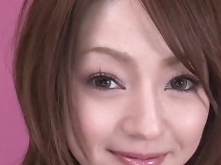 Ria Sakurai spreads legs for nasty dildo stimulation