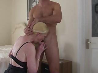 Hot British housewife enjoys her toyboy