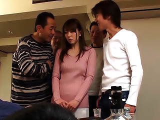 Naughty Japanese Milf, Yui Hamano In Arousing Gangbang