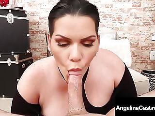 Curvy Cuban BBW Angelina Castro Mouth Fucks Hard Landlord!