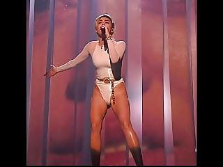 Miley tight Leotard live