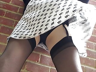 Letting the wind catch my skirt
