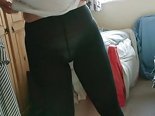 Dumb Wife Dressing - Black Opaque Tights
