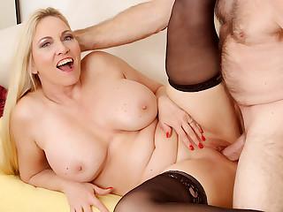 Passionate Mature Sex with Big Tits Grandma Cala Craves